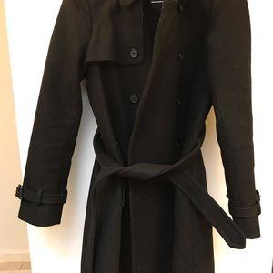Great J crew wool black trench coat 12